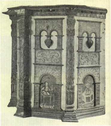 Gamle Holden Kirke - prekestol.